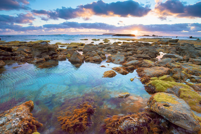 Sunset at Coffin Bay, SA. Australian landscapes, images